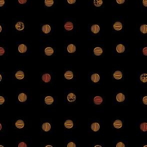 halloween pumpkin polka dots
