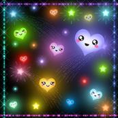 Kawaii hearts and stars