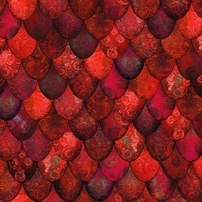 Dark Red Mermaid or Dragon Scales by Su_G_SuSchaefer