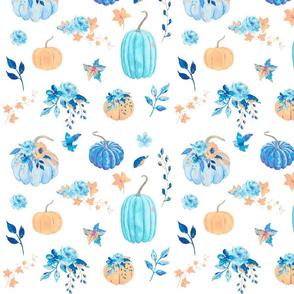 Blue Floral Pum-ch