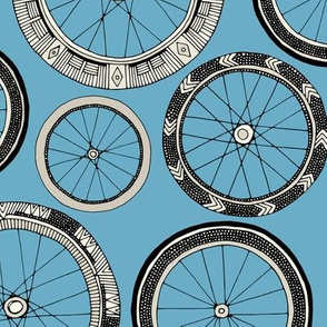 bike wheels blue