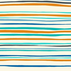bike stripe blue orange
