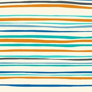 bike stripe blue orange