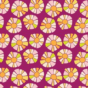 Sunshine Flowers in Raspberry