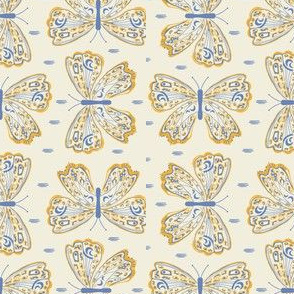 Luna Butterflies, Gold and Periwinkle, Small