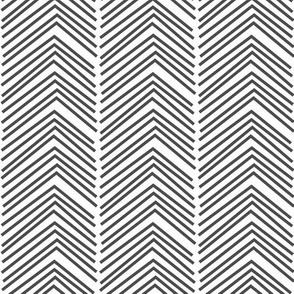 chevron love LG dark grey