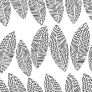 leaf-row-greyscale bw