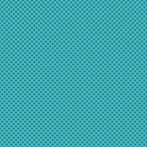 Turquoise blue polka dot circles.
