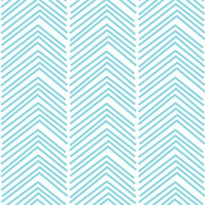 chevron love LG sky blue