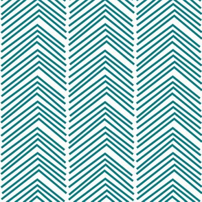 chevron love LG dark teal