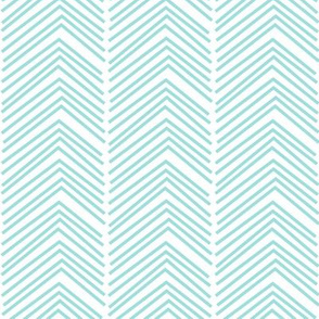 chevron love LG light teal