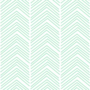 chevron love LG ice mint green