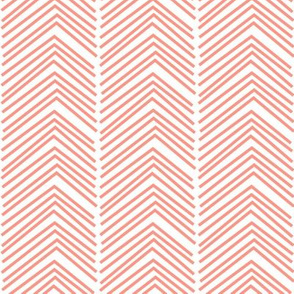 chevron love LG peach