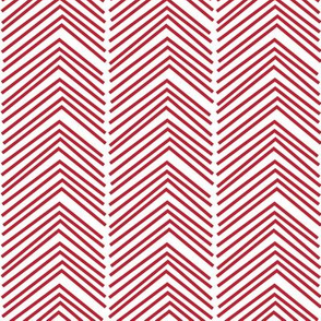 chevron love LG red