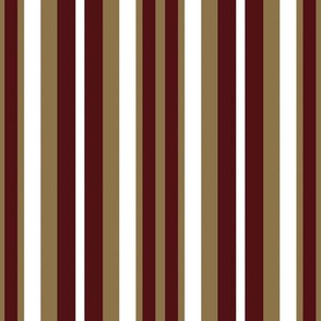 Vertical Maroon Gold White Stripes