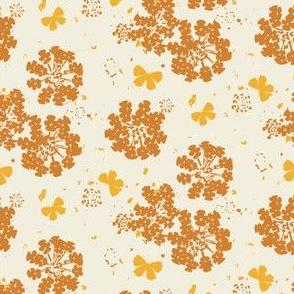 Gold Butterflies on Cream, Small