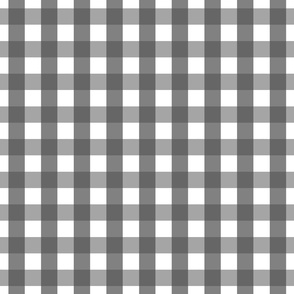 gingham 1in dark grey