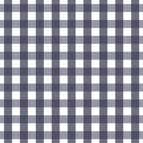 gingham 1in midnight blue