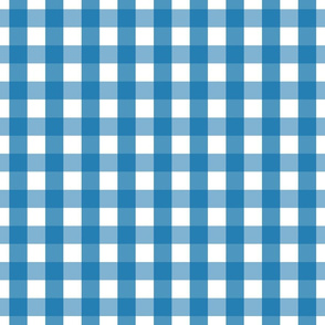 gingham 1in royal blue