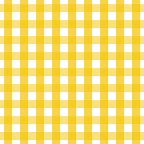 gingham 1in mustard yellow