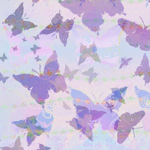 Soft Lavender Moths