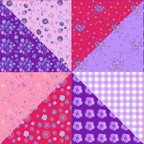 Purple Color Block Quilt