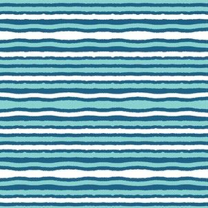 Turquoise blue ocean waves seamless vector pattern.