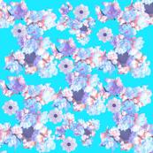 sea blue flowers