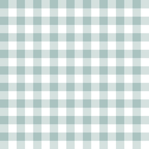 Gingham//Light Teal