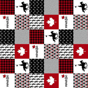 3 inch RCMP//Mountie - Wholecloth Cheater Quilt - Rotated