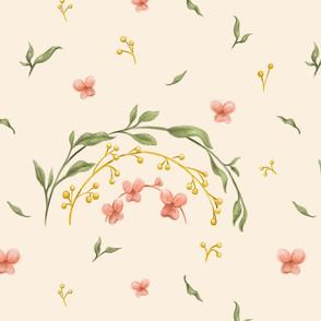 Flowered Rainbow - Beige