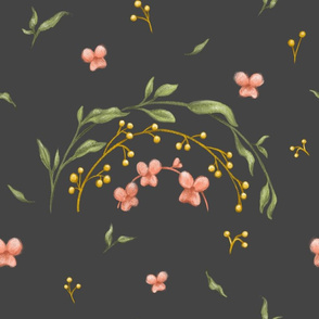 Flowered Rainbow - Dark grey