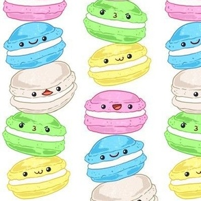 Stacked Macarons on White