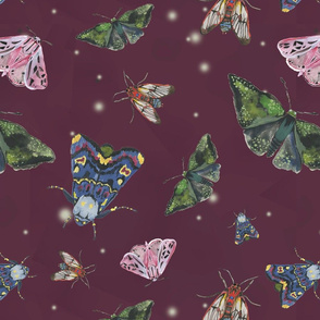 Moths - Wine Background