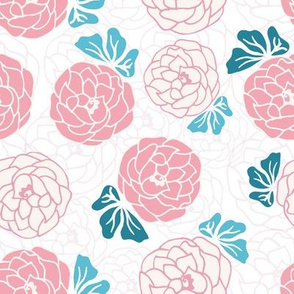 Romantic Peonies In Seamless Pattern
