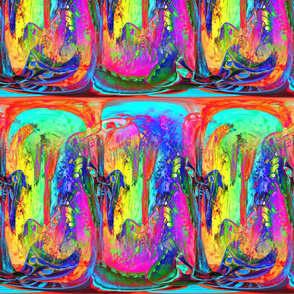 large magical abstraction moths rainbow forest 5 psychedelic multicolor PSMGE