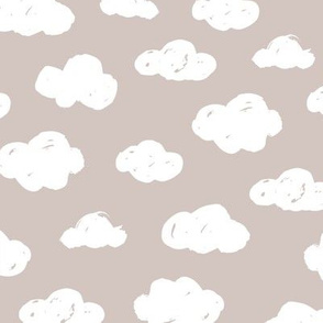 Soft clouds dreams and sleepy wonderland sky pattern winter autumn beige neutral