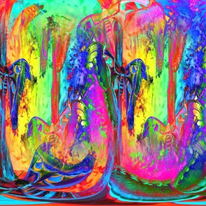 medium magical abstraction moths rainbow forest 5 psychedelic multicolor PSMGE