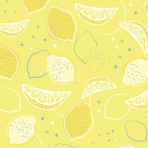 So Yellow! Lemons In Pattern