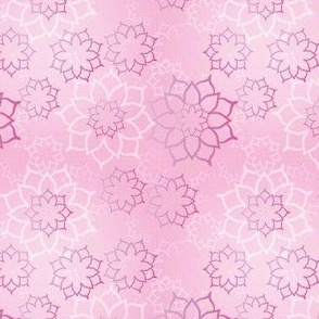 Dancing Pink Lotuses In Seamless Pattern