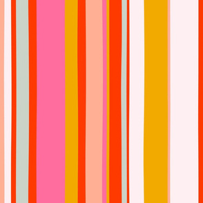 Modern deckchair stripe handpainted Bright 1