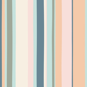Modern handpainted deckchair stripe in gray 1