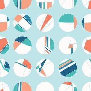 Maritime signal flag style polka dot circles