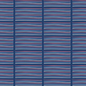 Hand drawn textured maritime stripes.