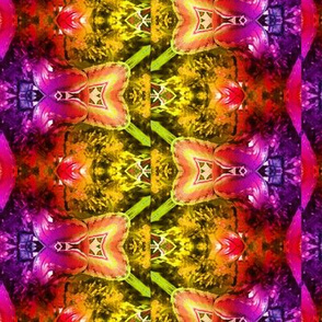 ABSTRACT PATTERN BUTTERFLY FAIRY pink orange yellowpaysmage