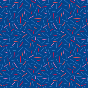 Abstract Modern Blue And Red Sprinkles