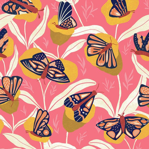 Bold with Wings - Moths and Flowers