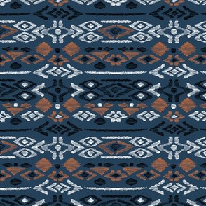 Minimal vintage mudcloth bohemian mayan abstract indian summer love aztec navy blue boys
