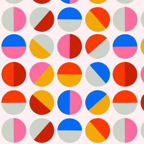 half circles Bright by Pippa Shaw
