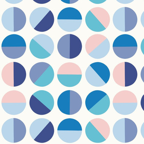 half circles in blue